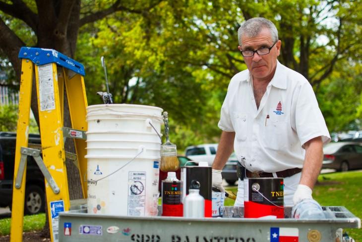 Capitol lawn painter