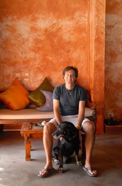 Bernardo Bertucci and dog 2.JPG